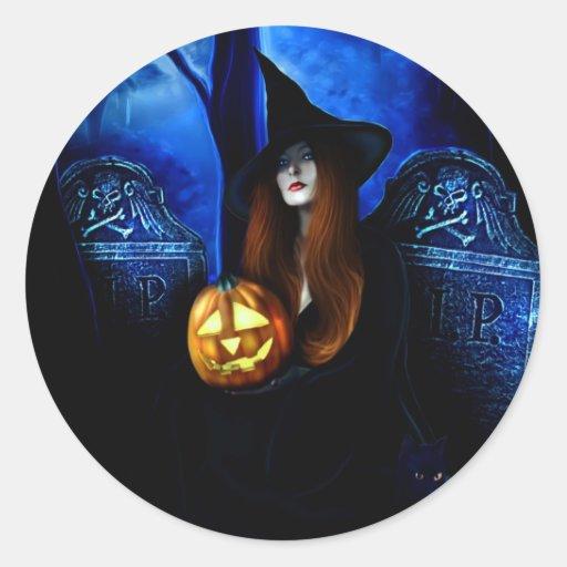 Pegatina de la bruja de Samhain