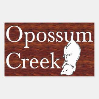 Pegatina de la cala del oposum