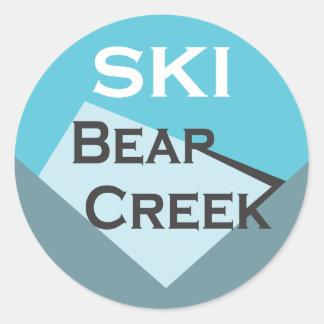 Pegatina de la cala del oso del esquí