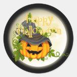 Pegatina de la calabaza de Halloween