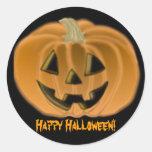 Pegatina de la calabaza del feliz Halloween