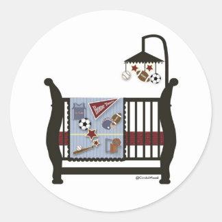 Pegatina de la cama de bebé de los deportes