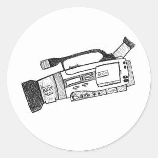 Pegatina de la cámara de vídeo del garabato