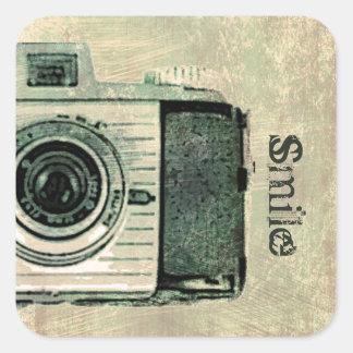 Pegatina de la cámara del vintage del Grunge