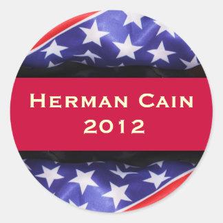 Pegatina de la campaña de Herman CAÍN 2012