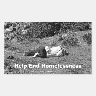 Pegatina de la campaña de la falta de vivienda del