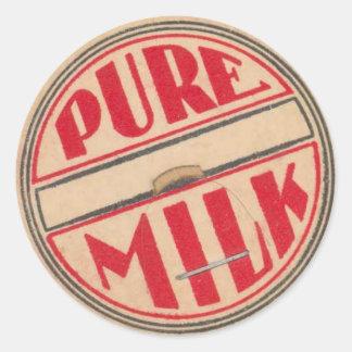 Pegatina de la cápsula de leche del vintage