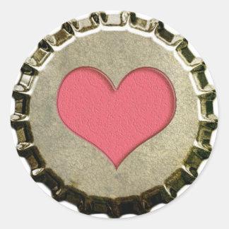 Pegatina de la cápsula del corazón