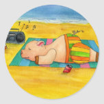 Pegatina de la carne asada del cerdo