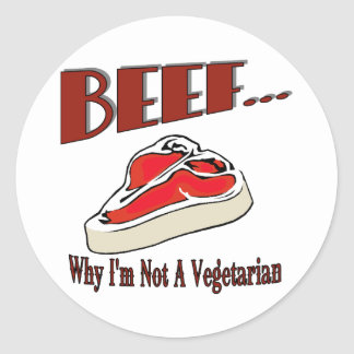 Pegatina de la carne de vaca