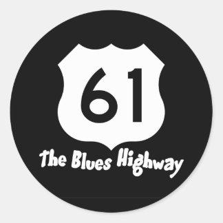 Pegatina de la carretera de los azules