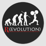 Pegatina de la carta de la evolución