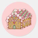 Pegatina de la casa de pan de jengibre del navidad