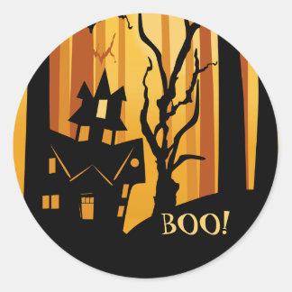 Pegatina de la casa encantada de Halloween