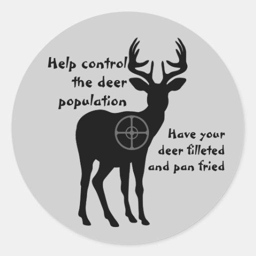 Pegatina de la caza de los ciervos