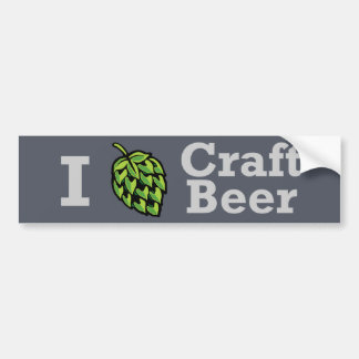 Pegatina de la cerveza del arte I [del salto] Etiqueta De Parachoque