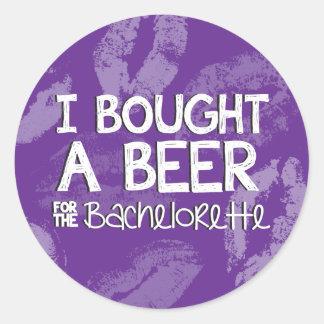 Pegatina de la cerveza del fiesta de Bachelorette