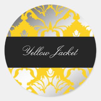 pegatina de la chaqueta amarilla del reflejo