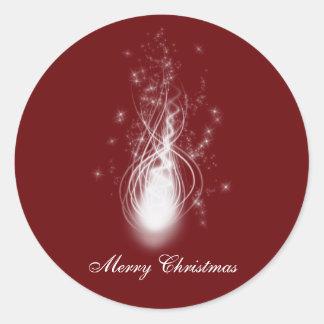 Pegatina de la chispa de las Felices Navidad