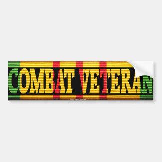 Pegatina de la cinta del veterano VSM del combate  Etiqueta De Parachoque