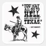 Pegatina de la cita de Davy Crockett