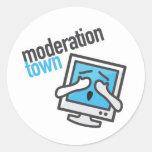 Pegatina de la ciudad de la moderación