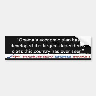 Pegatina de la clase de la dependencia de Obama Pegatina Para Auto