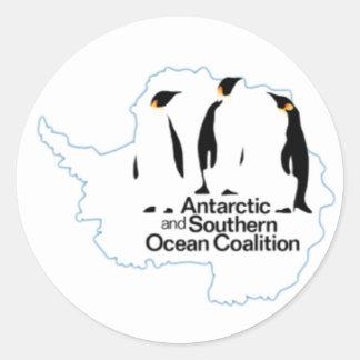 Pegatina de la coalición del océano antártico y