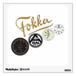 pegatina de la colección del logotipo de Fokker Dr