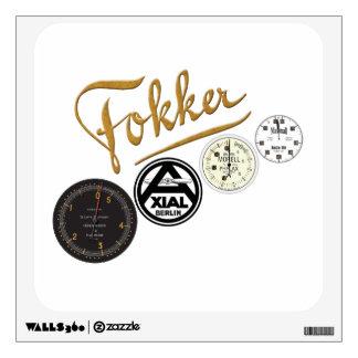 pegatina de la colección del logotipo de Fokker Dr Vinilo Adhesivo