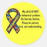 Pegatina de la conciencia del autismo