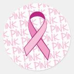 Pegatina de la conciencia del cáncer de pecho -