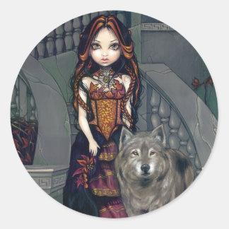 Pegatina de la condesa del lobo