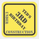 Pegatina de la construcción del cumpleaños