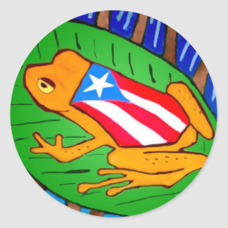 pegatina de la Coqui-bandera pequeño