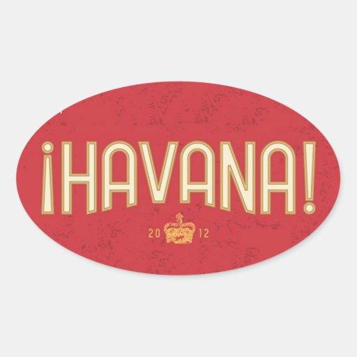 Pegatina de la corona de La Habana
