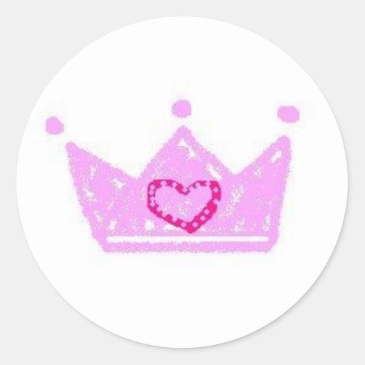 pegatina de la corona de la princesa