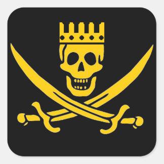 Pegatina de la corona del pirata - paquete de 20