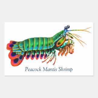 Pegatina de la criatura del filón del camarón de p