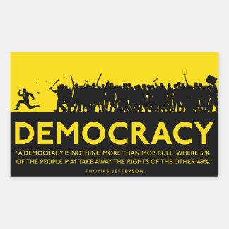 Pegatina de la democracia