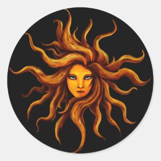 Pegatina de la diosa de Sun