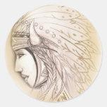 Pegatina de la diosa del nativo americano
