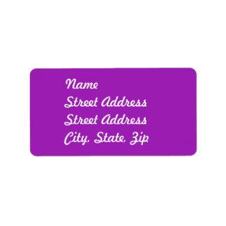 Pegatina de la dirección de la lavanda etiqueta de dirección