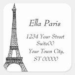 Pegatina de la dirección de la torre Eiffel