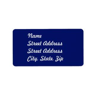 Pegatina de la dirección de los azules marinos etiqueta de dirección