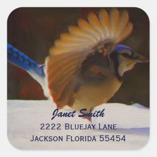 Pegatina de la dirección del arrendajo azul