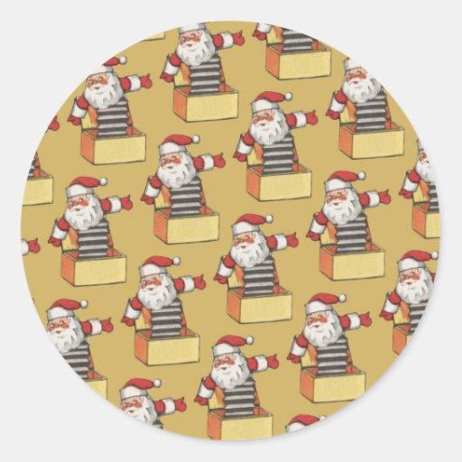 Pegatina de la diversión del navidad de Papá Noel