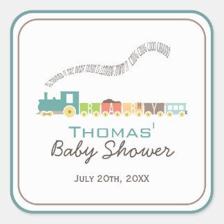 Pegatina de la ducha del tren del bebé