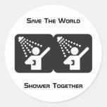 Pegatina de la ducha junto