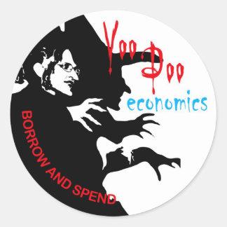 Pegatina de la economía del vudú